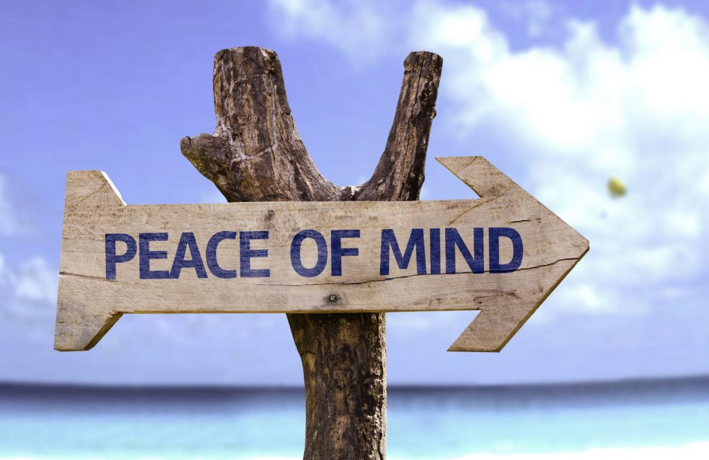 Peace of Mind sign post